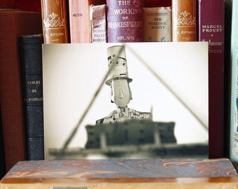 "Paper Sculpture Fineart Postcard ""Piano"" n-4"