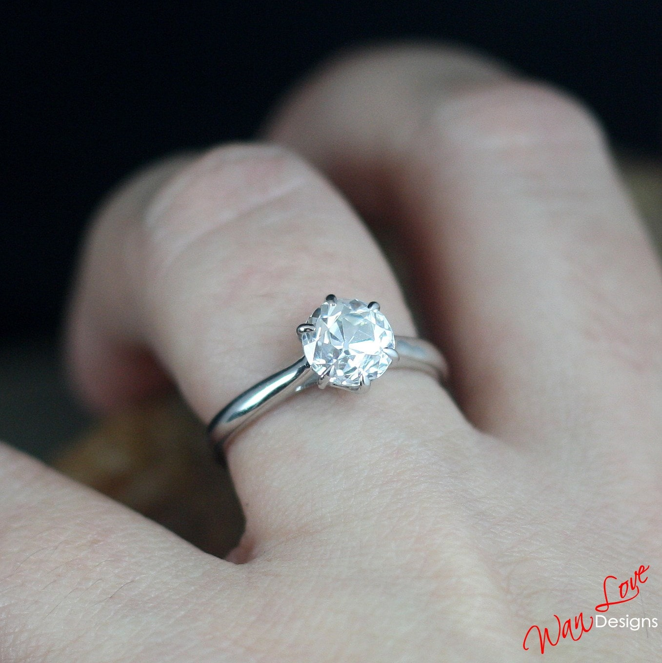 moissanite inc treasurly natural diamond center ring cut pla round products engagement platinum pave by dima supernova