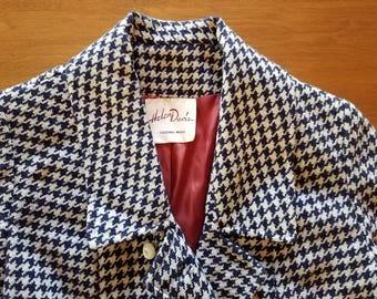 1960s Houndstooth Coat by Helen Davis