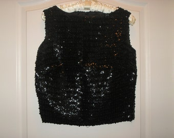 1950's/1960's Vintage Black Sequin Top