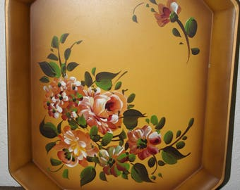 hand painted vintage tray bohemian decor
