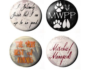 "Harry Potter Marauder 1"" Badges"