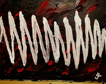 Buddhist art - sound wave acrylic painting