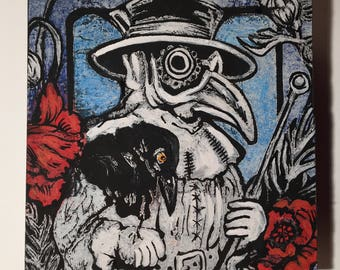 Plague Doctor and Poppies