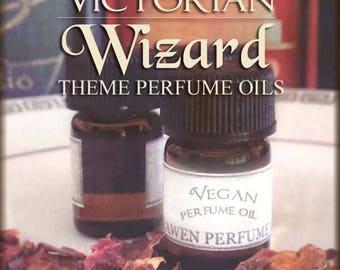 Victorian WIZARD inspired Perfume Oil Set / Vegan handmade Fragrance