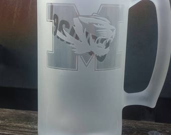Missouri tigers personalized beer mug are perfect gifts for any Guy. A custom mu mug is perfect gift for dad or a Groomsmen gift