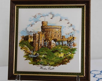 Vintage Windsor Castle Framed Tile