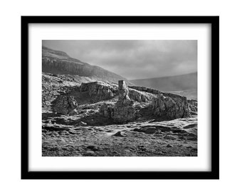 Iceland picture, Iceland photography, black and white picture, large wall art, black and white photography, landscape, black and white art