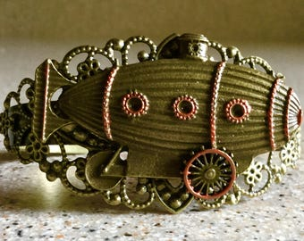 Steampunk Submarine Adjustable Bracelet