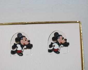 Disney Mickey Mouse Cufflinks, Vintage Mickey Mouse, New Old Stock