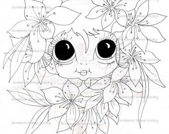 INSTANT DOWNLOAD Digital Digi Stamps Big Eye Big Head Dolls Digi  My Besties Garden Besties IMG734 By Sherri Baldy