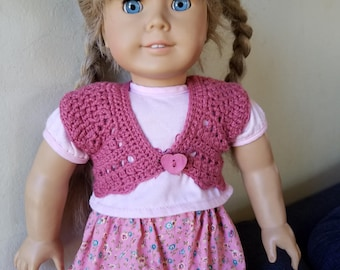 Lacy  Shrug for 18 inch dolls/ American Girl Dolls