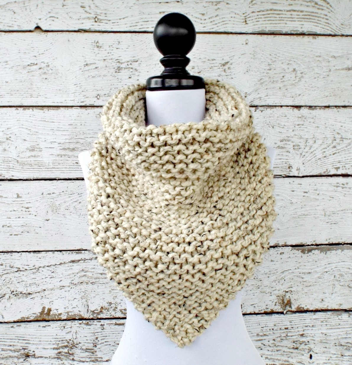 Instant Download Knitting Pattern PDF Knit Cowl Pattern Knit