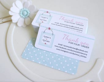 Thank You Cards - customised with your company branding. Logo, Packaging, Thank You, Tag, Card, Personalised