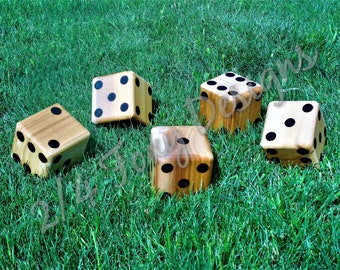 Wooden Yard Dice / Large Lawn Dice