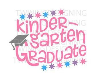 Kindergarten Graduation SVG PNG DXF digital file