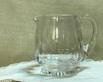Crystal Pitcher Creamer heavy clear