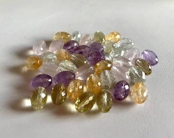 Faceted Quartz Beads-Pastel Quartz Gemstone Beads