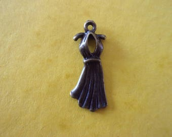 Charm/charms in the shape of dress, bronze - 1.2 cm