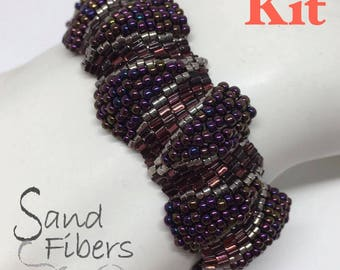 Small New Orleans Ripples Peyote Cuff - Kit with Printed Pattern