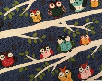 Cotton Fabric / Night Owls