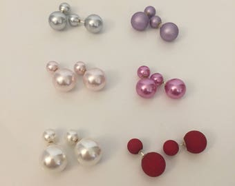 925 silver earrings and colored balls