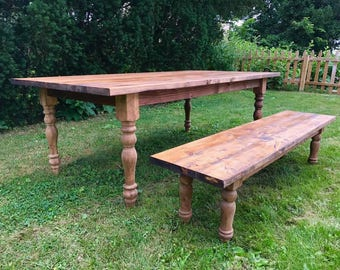 Farmhouse Table, Farm Table, Large Farmhouse Table, Rustic Table, Long  Farmhouse Table