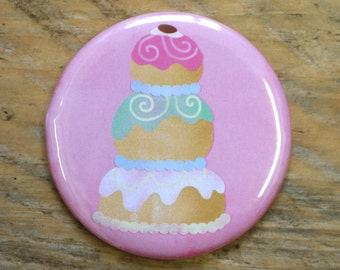 The Grand Budapest Hotel Mendl's Cake Pocket Mirror - Cute - Pink - Movie