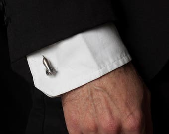 Jet Engine Cufflinks – Unique Cufflinks for Men in Solid Sterling Silver