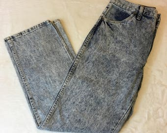 Vintage Rustler Acid Wash Straight Leg Jeans Size 33x30