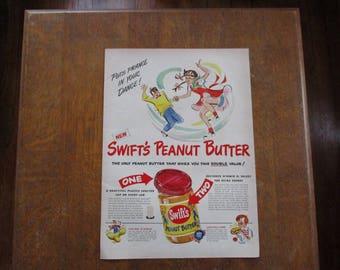 1948 Original Vintage Swift's Peanut Butter ad