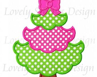 Christmas Tree 01Applique Machine Embroidery Design NO:0274