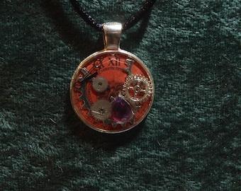 Clock of Fate Charm || Resin Pendant