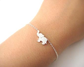 Tiny Elephant Bracelet Bayby Animal Bracelet Minimalist Jewelry Bridemaids gift