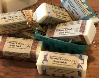 Laundry Stain Stick Lemon Eucalyptus Natural Stain Remover made from Homemade Coconut Soap Biodegradable