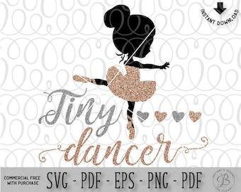 Tiny Dancer SVG, Ballet SVG, Ballerina svg, ballet cut file, ballerina cut file, ballet cut file, svg files, girl svg, baby svg