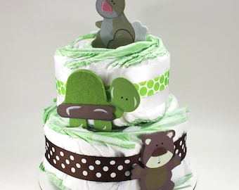 Forest Animal Diaper Cake