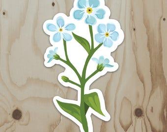 Forget-Me-Not Bouquet Vinyl Sticker