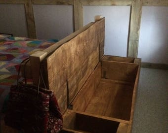 Solid wood blanket box | douglas fir and ash with pine feet