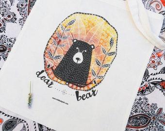 """Tote-bag """"Dear Bear"""""""