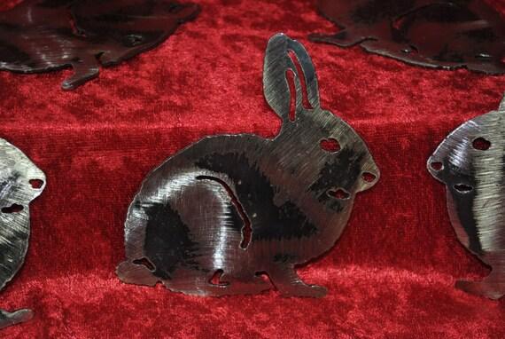 Rabbit, Wall Hanging, Magnet, Refrigerator Magnet, Toolbox Magnet, Nature, Prairie Animal, Woodland Animal, Pet, Metal Art Decor