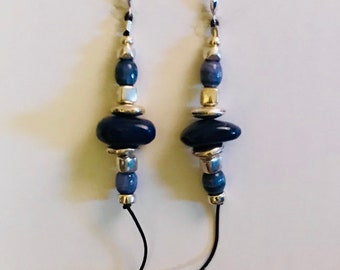 Sterling and Stone, Lapiz lazuli and Sterling silver Earrings
