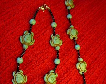 Turquoise Turtles Bracelet