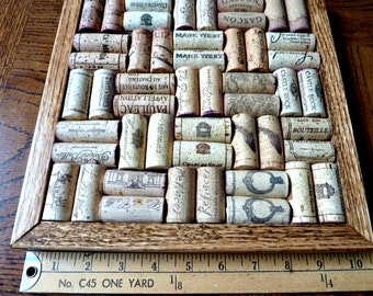 Wine Cork Board Trivet Large 10 by 10 Wine Collector's Gift Repurposed Recycled