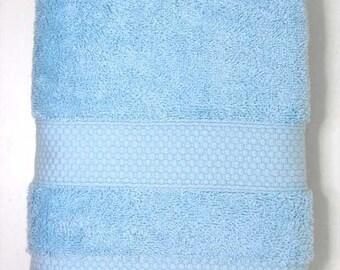 50x90cm towel cotton Terry color sky blue