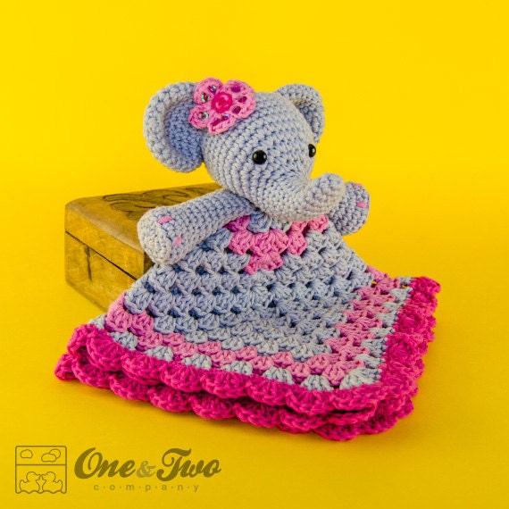 Elephant Lovey Security Blanket Pdf Crochet Pattern