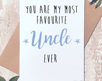 Uncle birthday card etsy birthday card for uncle uncle card fathers day card card for him bookmarktalkfo Gallery