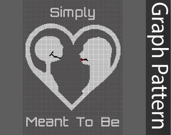 Nightmare Before Christmas Simply Meant to Be Crochet Graph Pattern, Valentine's Day Graph Crochet Pattern