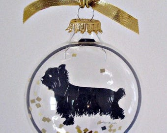 Morkie, Ornament, Dog Ornament, Pet Loss Gifts, Memorial Ornaments, Silhouette, Illustration, Dog Gift, Dog Art, Dogs, Dog Mom Gift, Yorkie