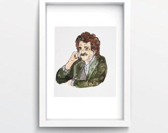 Kurt Vonnegut's portrait print